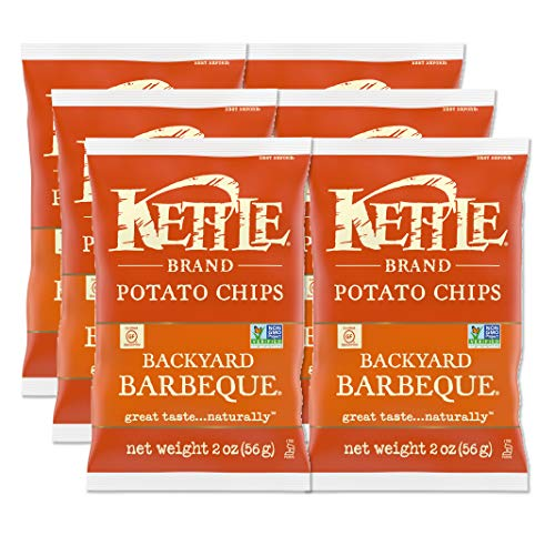 Kettle Brand Potato Chips, Krinkle Cut Dill Pickle Kettle Chips, 2 Oz (Pack of 6)