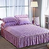 huyiming Utilisé pour la Version coréenne de la Jupe de lit épaisse pièce Couvre-lit épais 1.5m1.8m2 m lit Couvre-Matelas Simmons