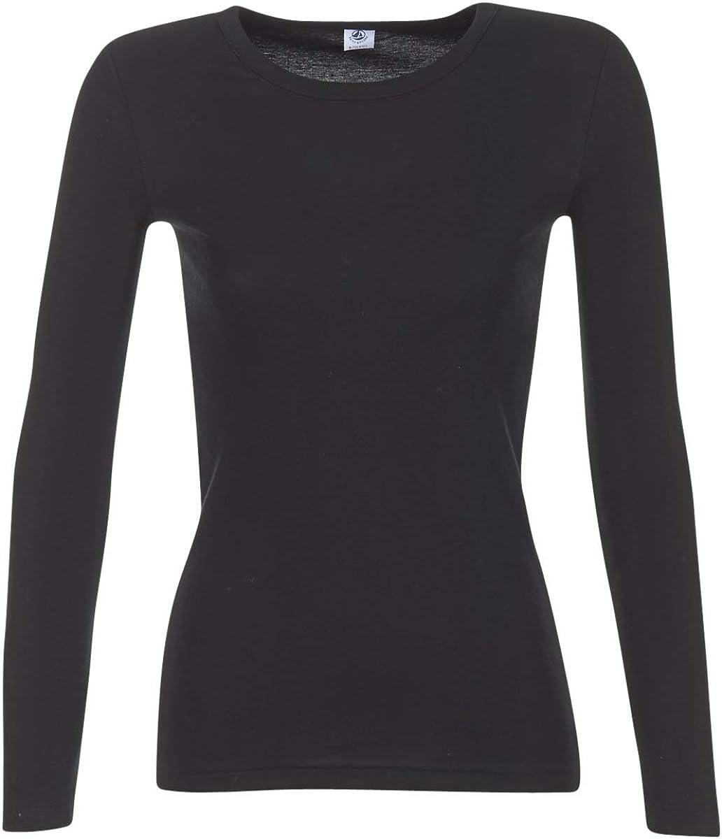 Petit Bateau Women's Black Long-Sleeved Iconic T-Shirt Sizes XXS-XL Style 14897-53409