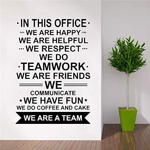 AQjept En Esta Etiqueta de la Pared del Cartel de la Oficina, Somos Trabajo en Equipo Inspirador del Trabajo de la Cita del equipo63x89cm