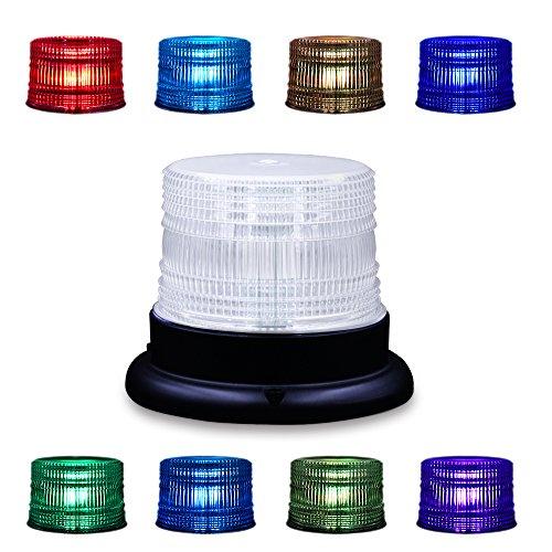 LED Beacon Blitzlicht, Appow 8 Farben Rundumleuchte Blau Einstellbar Notfall Rotierenden Blitzlicht mit Remoter, Magnetische Basis für DC 12-90V Zigarettenanzünder Plug Fahrzeuge