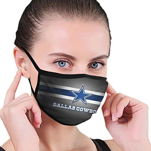 Da-llas Cow-Boys Unisex Mouth Mask Washable and Reusable Soft Face Mask Mouth-Muffle Black