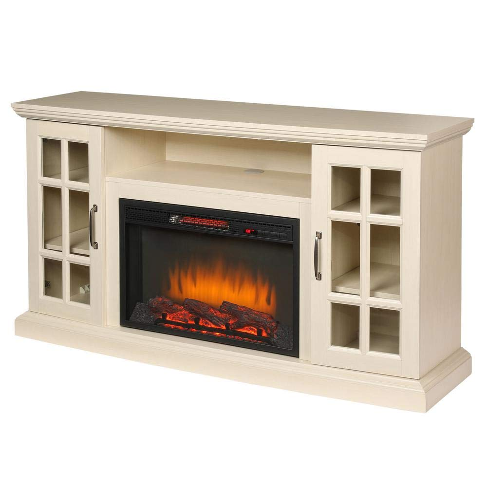 Home Decorators Collection Edenfield 59 In Freestanding Infrared Electric Fireplace Tv Stand In Aged White Buy Online In Honduras At Honduras Desertcart Com Productid 103057113