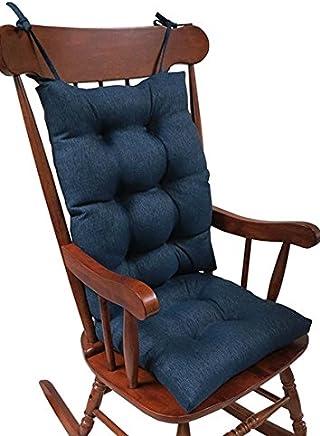 The Gripper Non Slip Omega Jumbo Rocking Chair Cushions, Indigo