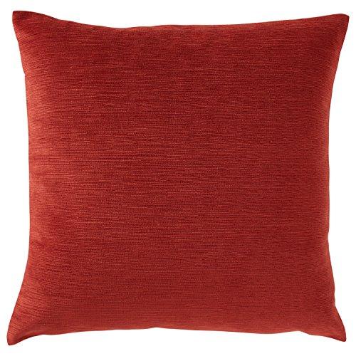 Amazon Brand – Stone & Beam Striated Velvet Linen-Look Decorative Throw Pillow, 17