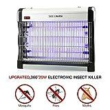Seekavan Insektenvernichter Mückenlampe elektrische Leistungsstarke Fliegenfalle, UV-Licht 20W (2x10W), 3000V, 80 m² Nutzfläche für Innenräume, Garten