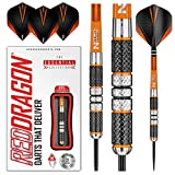 Red Dragon Amberjack 2: 21g Tungsten Darts Set with Flights and Stems