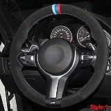 WQSNUB Costura Manual del Volante del Coche Cubierta de Gamuza, para BMW F87 M2 F80 M3 F82 M4 M5 F12...
