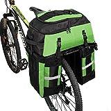 PELLOR Fahrrad Gepäcktaschen, 3 in 1 Multifunction 70L Gepäckträger Tasche Reißfest Groß Fahrradtaschen