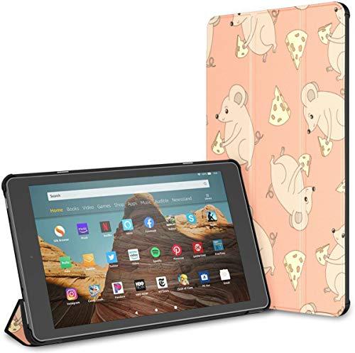 Estuche para Little Cute Mouse Carton Fire HD 10 Tablet (9.a / 7.a generación, versión 2019/2017) Estuche para Fire Tablet HD 10 Estuche para Fire HD 10 Auto Wake/Sleep para Tableta de 10.
