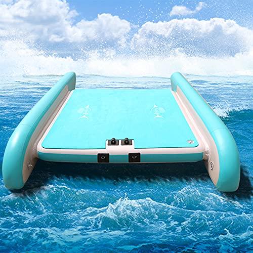 LANHA 260/320cm Aufblasbares Schwimmbett, Tragbar Schwimmende Plattform Aufblasbares Schwimmdock Keine Montage Erforderlich Schwimmdock Aufblasbares Schwimmdeck Für 4-5 Personen