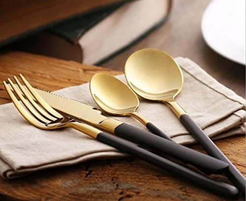 48 Charlotte Mall Pieces Stainless Steel Flatware Set gift Knife Soup Dinner Sp Fork