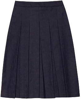 Falda Midi de Hilo teñido con Efecto de Tela Vaquera (Italian Size)