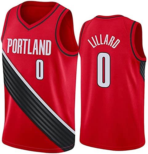 xzl Trail Blazers #0 Lillard Camiseta de baloncesto para mascotas NBA Boys Youth Basketball Jersey sin mangas, camisetas deportivas Swingman, rojo – M