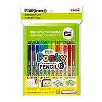 三菱鉛筆 色鉛筆 ポンキーペンシル 12色 K800PK12CLT 『 2セット』