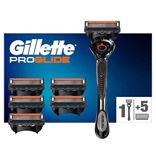 Gillette Fusion 5 Proglide Technologie Flexball Rasoir Homme + 6 Lames de Recharges [OFFICIEL]