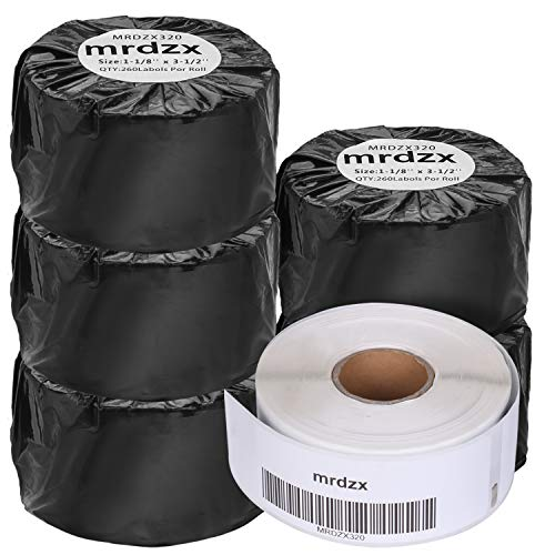 6 rollos compatibles Dymo LabelWriter etiquetas de dirección 30320, 1-1/8 pulgadas x 3-1/2...