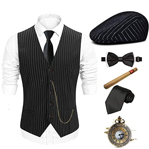 1920s Mens Gatsby Gangster Suit