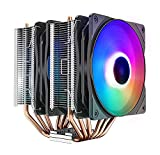 DEEPCOOL Neptwin V3 CPU Cooler 6 Heatpipes Twin-Tower Heatsinks Dual 120mm PWM Silent LED Fans Constant Colorful Version, Suitable for high-end CPU air-Cooling
