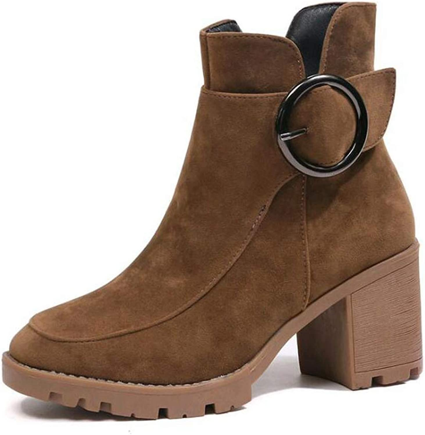 Kyle Walsh Pa Women Autumn Winter Women Boots Solid Zipper European Ladies Suede Leather Fashion Boots