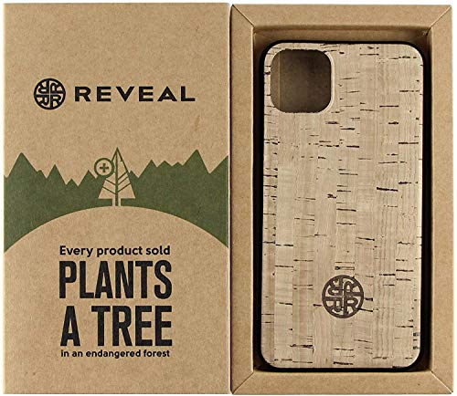 Reveal Cork Wood Cases Compatible w/iPhone 12/12 Mini/12 Pro/12 Pro Max - Natural Eco-Friendly Sustainable Cork Vegan Leather Designs (Natural Beige, 12 Mini)