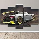 ZXCFGH 5 Stücke Leinwanddruck Audi R8 GT2 Racing Modifed