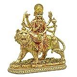 Hindu Goddess Durga Statue - Indian Eastern Enlightenment Durga On Tiger Figurines Decorative - India God Murti Idol Home Temple Puja Sculpture Mandir Pooja Gifts Items