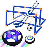 NextX Hover Hockey Soccer Toys for Kids Indoor & Outdoor Games Hovering Hockey Games Rechargeable Soccer Ball with Led Light for 3-12 Year Old Kids