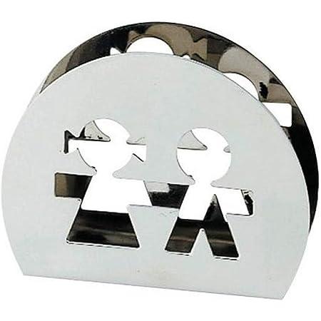 【正規輸入品】 ALESSI アレッシィ GIROTONDO ペーパーナプキンホルダー/シルバー AKK51