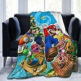 Super Yoshi Mario Fleece Blanket Soft Warm Fuzzy Lightweight Plush Luxury Bed Blankets Cozy Couch Sofa Flannel Throw Blanket Winter Novelty Blanket for Adult Kids 50'x40'