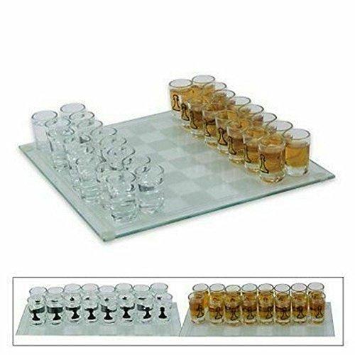 Armeeverkauf Schnaps Schach Trinkspiel mit 32 Schnapsgläser Spielbrett edel neu
