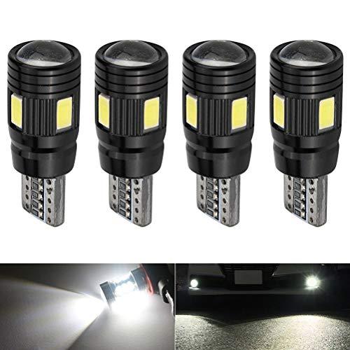 LeeBoom 4Pcs 12V T10 Breite Anzeigelampe 720 ° sphärische Streulampe Superhelle Kennzeichenleuchte mit Decodierungsfunktion