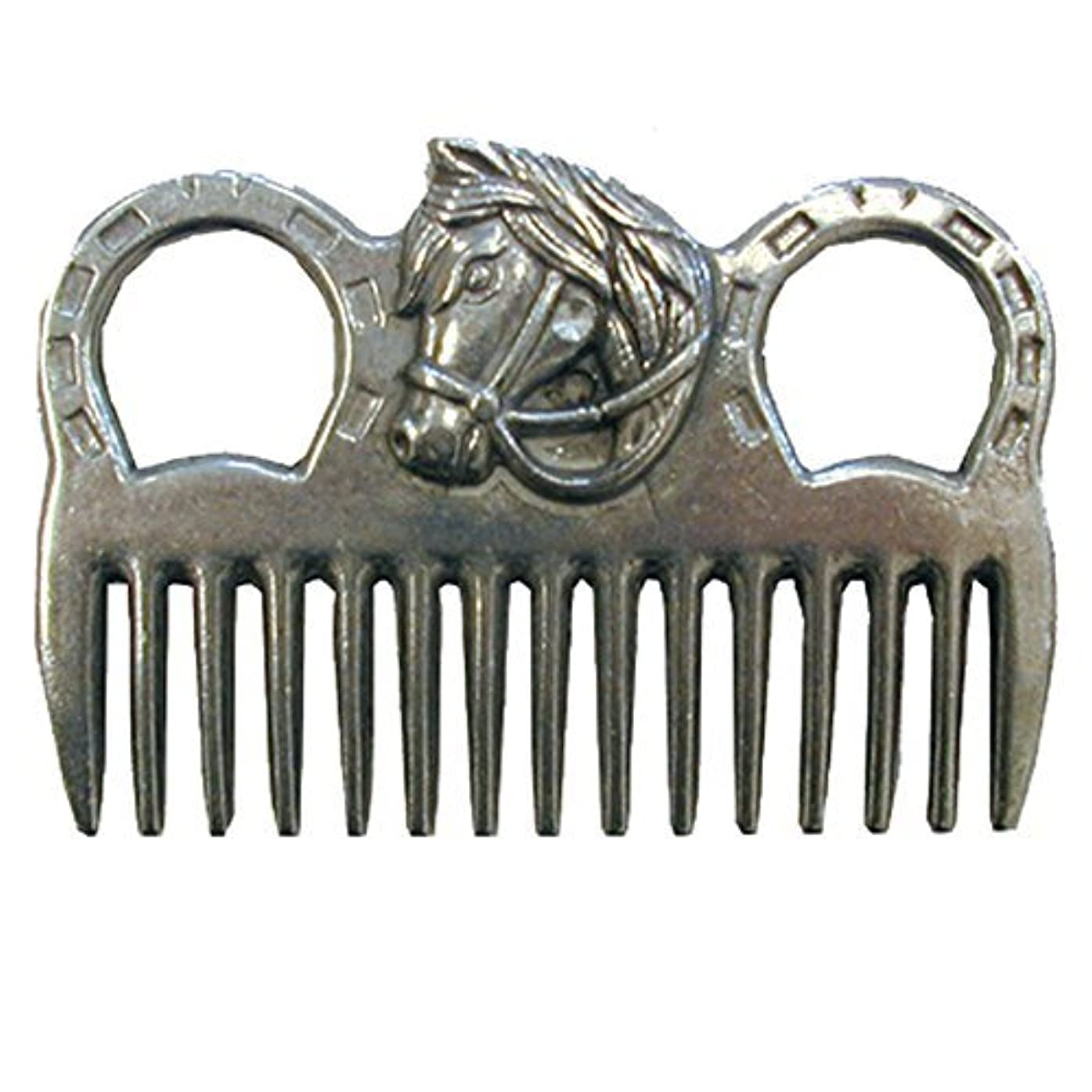 同等の隠すウィスキーIntrepid International - MANE COMB ALUMINUM W/HORSEHEAD [並行輸入品]