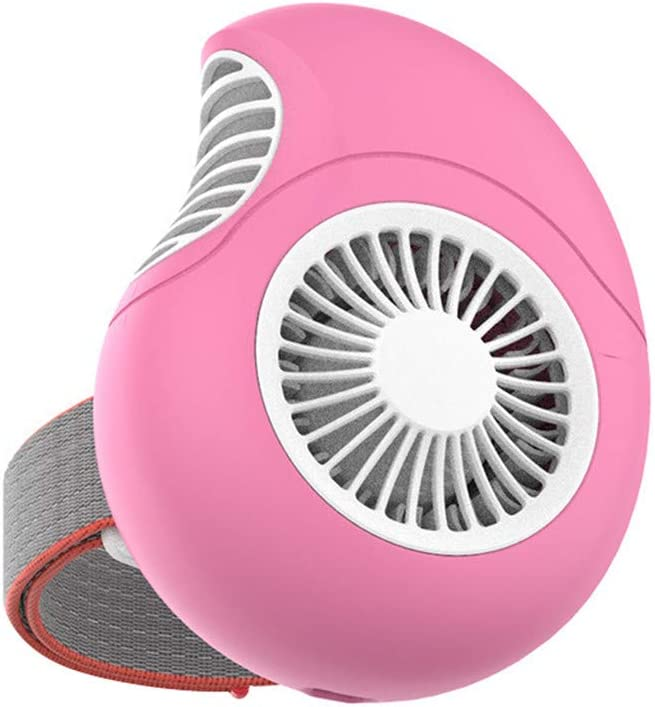 Unionm USB Fan, Mini Magnetic Suction Wrist Wearable Dial Turbine Fan Personal Desk Small Mobile Portable Fan for Computer Laptop Home Outdoor Indoor Travel USB Charging (Pink-B)