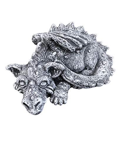 Pierre-figurine-Le Dragon Flokii, fait à la main, résiste au gel, fabriqué en Allemagne