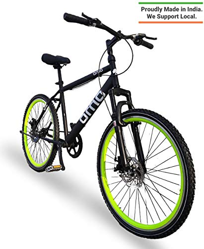 Omobikes Manali G.1 | Lightweight | Fast Light Weight Hybrid Cycle with Alloy Rims, Anti Rust Frame | Green