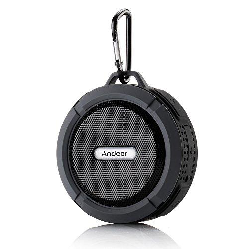 Andoer 5W Wireless Bluetooth 3.0 Outdoor Stereo Speaker Soundbox Speakerphone with Water Resistant Shockproof Dustproof