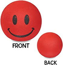 Tenna Tops - For Thick Style Antenna: Happy Red Smiley Face Car Antenna Topper - Antenna Ball - Rear View Mirror Dangler - Auto Accessory