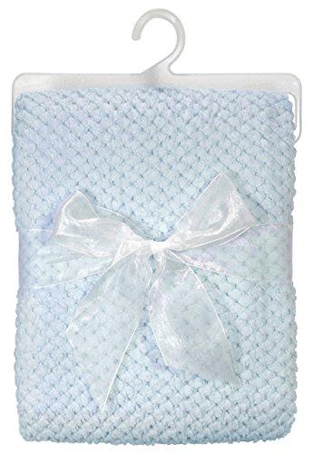Stephan Baby Ultra Soft Popcorn Fleece Blanket, Blu