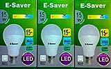 E-Saver - LED A70 Globe - Led Light Bulbs - 15w=135 watt - (Pack of 3) - Daylight 6500k - Bayonet Light Bulb - (B22- B22d) - Great for SAD - Snooker, Pool, Hobbies, Craft, Photography