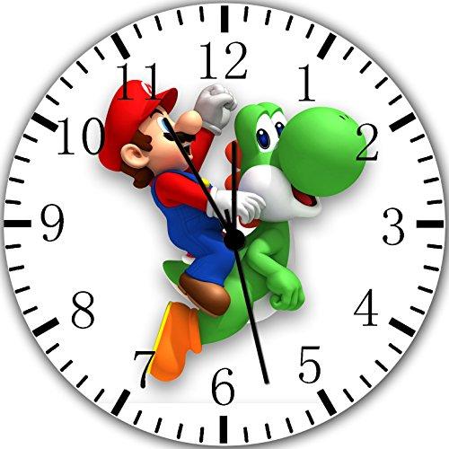 Reloj de pared Super Mario Yoshi 10'será bonito regalo y decoración de la habitación Pared W352