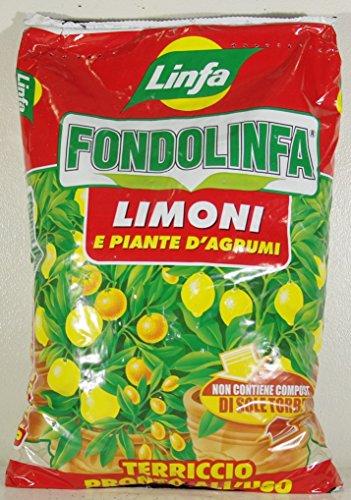 Fondolinfa Terreau prêt à l'emploi pour citrons et plantes d'agrumes - Boîte de 10 l