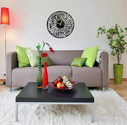 BAUPOR woestijn-wandklok, uniek design, metaal, wanddecoratie, modern industrieel geruisloos uurwerk, 61 x 61 cm (B x H)