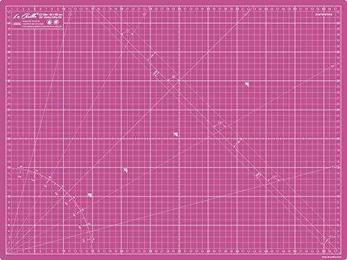 La Canilla ® - Base de Corte Autocicatricante Patchwork A2 (60x45cm) Centímetros y Pulgadas con Cuadrícula Cutting Mat de 5 capas para Costura y Manualidades - Alfombrilla de Corte (Rosa)