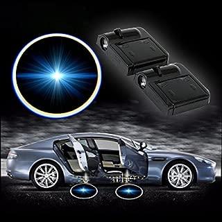 Bestmay Blue Bat Batman Logo 2PCS inal/ámbrico coche LED puerta proyector Ghost Shadow luz nueva