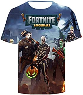 Fortnite 3D printing T-shirt round neck short sleeve fashion T-shirt