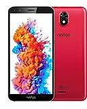 TP-Link Neffos C5 Plus - Smartphone principianti da 16 GB senza contratto, display 5,34 pollici Full View 18:9, Dual SIM + MicroSD, Android 8.1, colore: Rosso