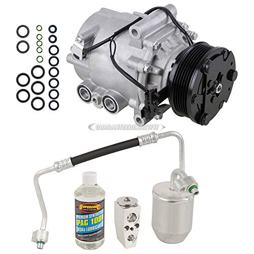 AC Compressor & A/C Kit For Saturn Vue 3.5L V6 2006 2007 - Includes Drier Filter, Expansion Valve, PAG Oil & O-Rings - BuyAutoParts 60-81286RK New
