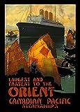 Millésime Voyage en ORIENT ET EXTRÊME-ORIENT ' Paquebots vers l'Orient ' - Sur Format A3 Papiers Brillants de 250g. Affiches de Reproduction