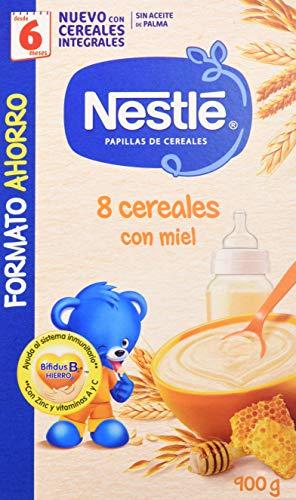 Nestlé Papilla 8 cereales con Miel - Alimento Para bebés - Paquete...